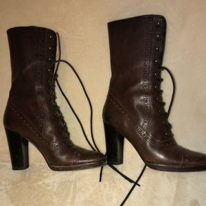 Pre-loved Lace-Up boots Michael Kors Brown 6.5